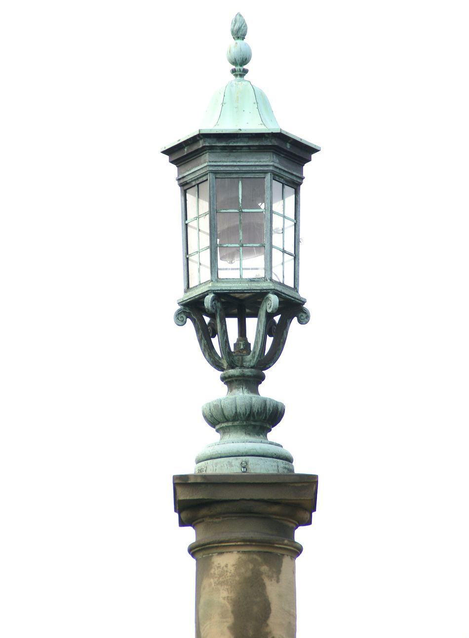 Alnwick War Memorial Bronze Lamp Detail